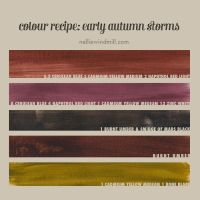 Color Mixing Recipe - Early Autumn Storms by NellieWindmill