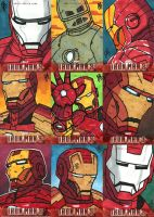 Upper Deck - Iron Man III Sketch Cards by JoeHoganArt