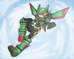 Rayquaza Cross Mega Man.EXE by Shoutaro-Saito