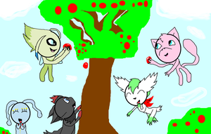 Eating the berries in the Forest of the Celebi by ShadowUkelover