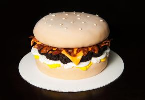 Cheeseburger Cake by KayleyMackay