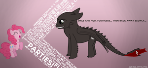 Toothless + Pinky Pie by captaincuttlefish