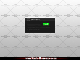 Subscribe Form Free PSD by KRONTM