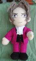 Miles Edgeworth plushie by magickitty1972
