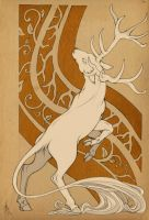 Elk Deco by cursed-sight