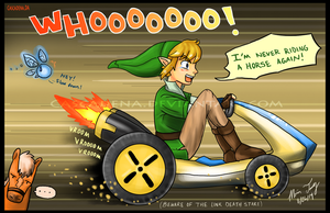 Link's New Ride by Cascadena