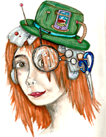 Steam Punk Self Portrait by Mollykittykat