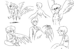 Humanized Pegasus (study) by kilala97
