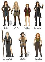 Hobbit's female designs by LenaKuroHana