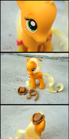 Applejack FIXED G4 Figue by GrandmaThunderpants