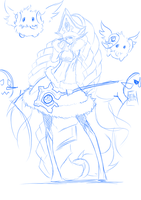 League Of Legends Sketch lulu by Varuna00