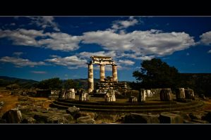 The Sanctuary of Athena Pronaia by Hermetic-Wings