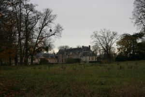 Chateau overlooking the field by Cat-in-the-Stock