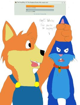 Foxie captures Billy by Charbunstar