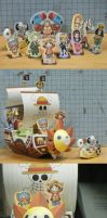 ONE PIECE Ships paper  craft by VHosoe