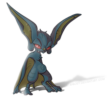Character Redraw - Blue Bat by Ahrjey