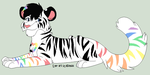 Rainbow Tiger Adopt CLOSED by kitkatkttyAdopts5000