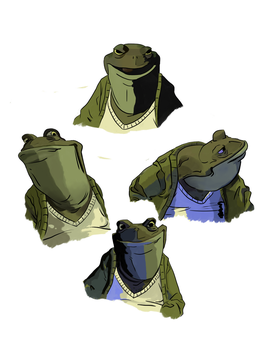 Mr. Toad facial expressions by Tora-Marikama