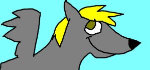 Derpy Hooves as a Wolf by Janeisamaze