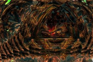 Entry to Vulcania's Organic Rocky Dome by PhotoComix2
