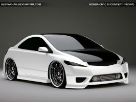 Honda Civic Si Front by aliffarhan