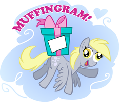 Derpy MuffinGram by shuffle001