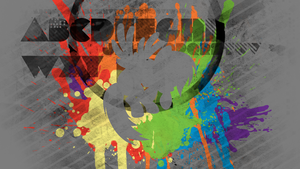 Rainbow Dash Splatter Wallpaper by RDbrony16