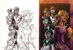 Voltron United and Drawn by JeremyTreece