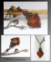 Kelyn- wire wrapped pendant by mea00
