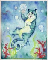 Aquatic Kitty by Luthie13
