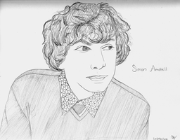 Simon Amstell Pencil Drawing by lizziep