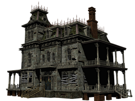 Haunted House 06 PNG Stock by Roys-Art