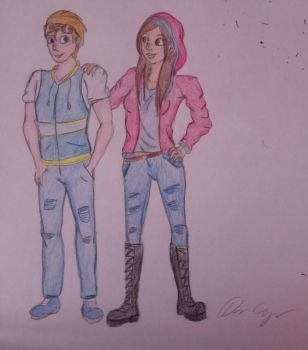 [Humanized] - Connor and Caitlin  by CartoonLover20