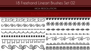 18 Freehand Lineart Brushes Set 02 by noema-13