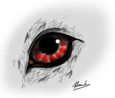 Eye Blood Wolf by The-Curtis