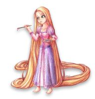 Rapunzel is painting by Lizalot