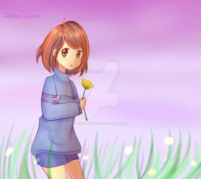 Frisk in the field by SaikoTsuneki
