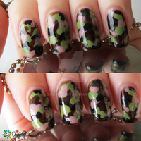 Girls in Army! - camouflage nail art by Danijella
