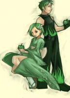 green apple by victoria-ying