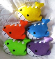 Rainbow of Wailord Plushes by P-isfor-Plushes