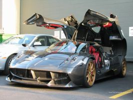 Opened up Huayra by SeanTheCarSpotter