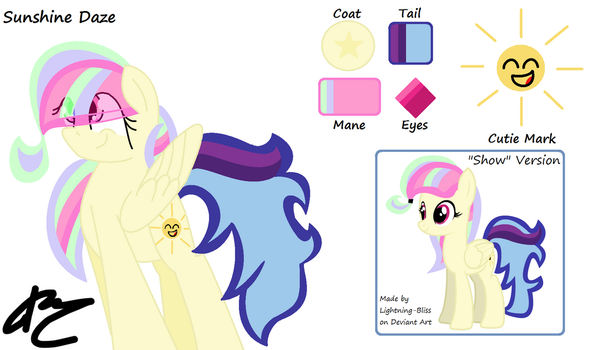 Sunshine Daze Ref 2 by MlpCocoaBean64
