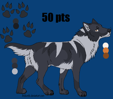 [CLOSED] Wolf Adoptable (lineart by Arukardis) by DindellaTheDefender