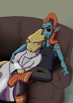 Couch Cuddles by Simatra