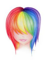 Rainbow Hair by Seeing-inTechnicolor