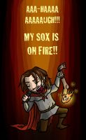 Sox On Fire by blackbirdrose