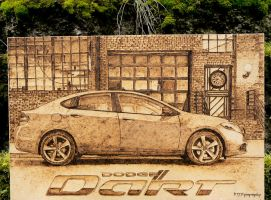 Dodge Dart - Traditional Art - Wood Burning by brandojones