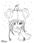 Bear Hat - Lineart by JadeDragonne