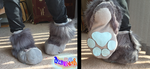 Gray Fursuit Sockpaws by TECHNlCOLOUR