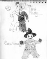 Lego Two-Face and Scarecrow by ScarecrowCrane